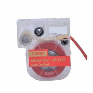 Ribbon LC Cartridge compatible for Epson LC-4RKK5 Gold on Red for Epson LabelWorks LW400/700/600P/1000P (RT-12G9)