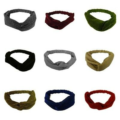 women or girls turban knot headband sparkle