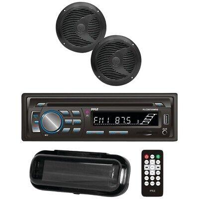 Pyle PLCDBT65MRW Bluetooth Marine Radio Radio CD Receiver & 2x 6.5 'Speakers