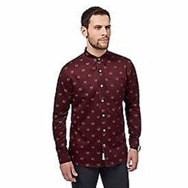 Debenhams The Collection Mens Purple Tonic Tailored Shirt
