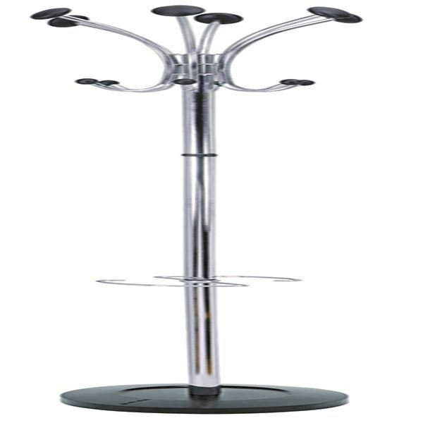 Alba Chrome Coat Stand Chrome/Black PMCLASS [ALB00715]