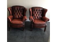 Chesterfield sofa & Two armchairs