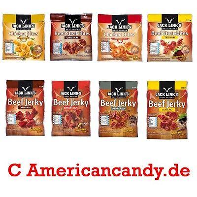 6x USA Beef Jerky Bites Trockenfleisch Rind & Huhn (4 Sorten zur freien Auswahl)