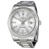 Rolex Datejust II White Gold Fluted Bezel Mens Watch