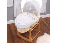 Counting Sheep Moses Basket, Stand and Changing Mat.