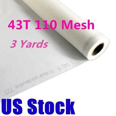 Usa - 3 Yards 110m 43t Polyester White Silk Screen Printing Mesh Fabric
