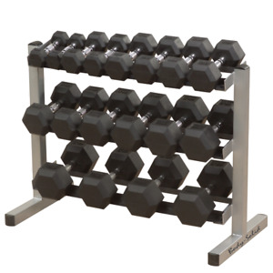 Flat Bench + Weights + Curl Bar + Rubber Coated Dumbbells Set