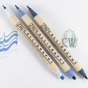 Zig Calligraphy Pens Set Of 3 Cool Blues Artists