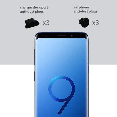 3 x Black Anti Dust Plug charger dock port for lightning For Samsung S9
