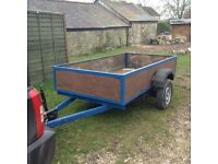 For sale my 8ft X 4ft 4 inch sided trailer.