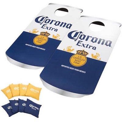 CORONA Can Bean Bag Toss Cornhole Corn Hole Game Boards SET  ()