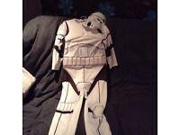 Kids storm trooper costume age 7-8