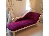Shabby Chic Chaise Longue