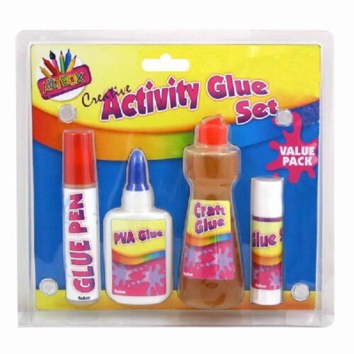 Craft+Glue+Set+%2F+Kids+Creative+Activity+%2F+Four+Different+Type+Glue++Bottle