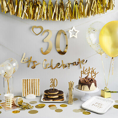 Create Birthday Banner (Gold Create Your Own Banner - Birthday Party, Bunting, Backdrop,Venue)