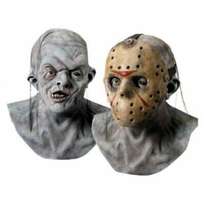Friday the 13th Movie Jason Deluxe 2 Piece Overhead Mask Adult Licensed