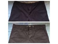 Mens Grey & Navy Summer shorts (Unworn)