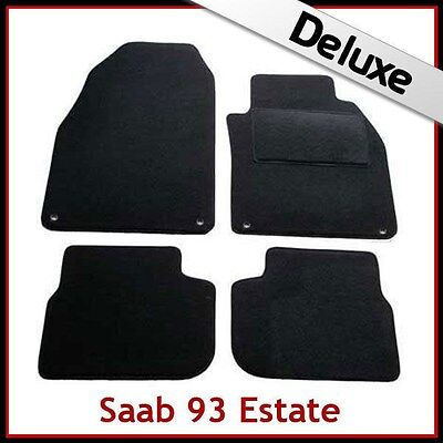 SAAB 9-3 93 Estate Pre-facelift Mk2 2002-2008 Tailored LUX 1300g Car Mats BLACK for sale  Shipping to Ireland