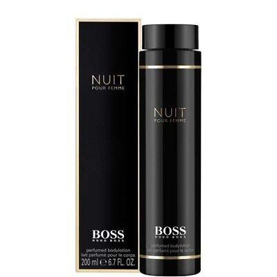 Hugo Boss Nuit Pour Femme Body Lotion Creme 200ml / 6.7fl oz Black Women LARGE  Boss Femme Body Lotion