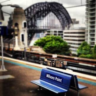 Lease luxury water views 16m2 security parking at Milsons Point