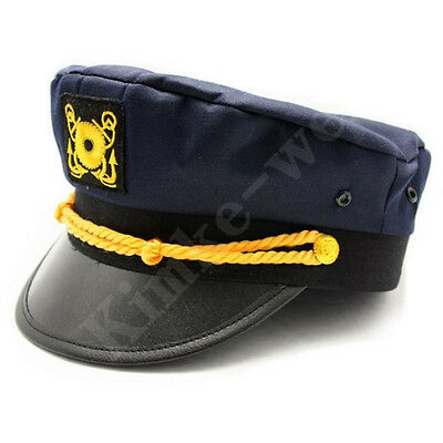 Dark Blue Yacht Captain Skipper Sailer Boat Cap Hat New](Sailer Cap)