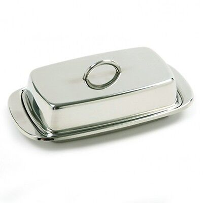 Norpro Stainless Steel Double Covered Butter/Cream Cheese Dish