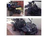 2009 plate road legal buggy XT 250 GK-7 RACER (QUAD) needs mot