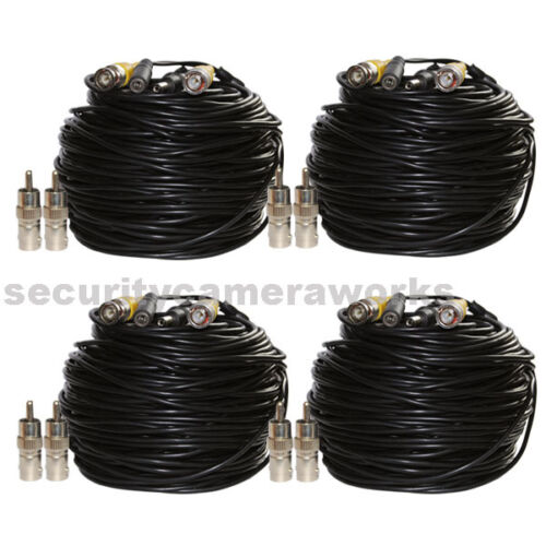 4x 150ft Video Power Extension Cable CCTV BNC RCA Security Camera Wire Cord b2c