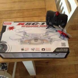 HD camera Drone and bonus remote control helicopter