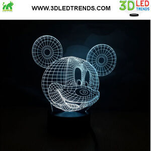 3D LED Night Light Illusion with ABS Base *7 changing colors* Kitchener / Waterloo Kitchener Area image 2