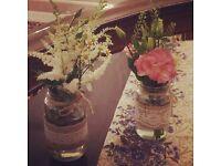 Decorated wedding jars