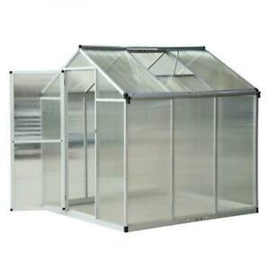 6'x 6.25 x 6.4 Portable Outdoor Walk-In Cold Frame Greenhouse Aluminum Frame / Greenhouse for fruits and vegetables