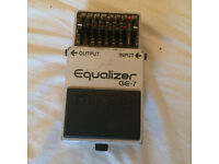 Vintage Boss GE-7 EQ pedal, made in Japan, great condition!