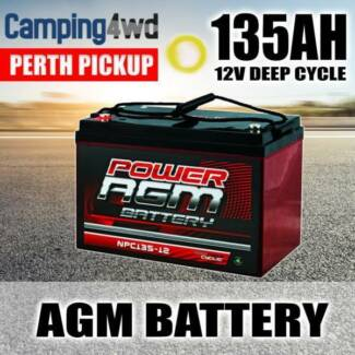 12 VOLT 12V 135AH AMP HOUR BATTERY AGM SLA DEEP CYCLE DUAL FRIDGE