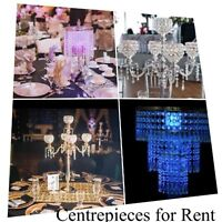 Assorted Centerpiece for Rent. Candelabras/Full Wedding Decor