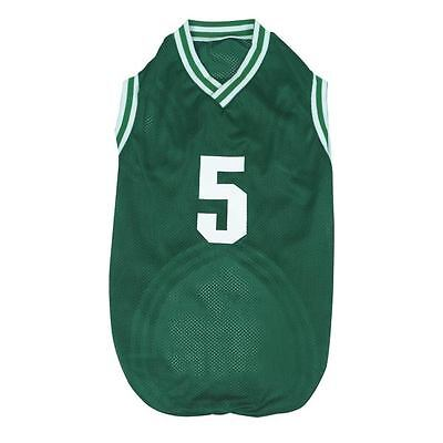 CASUAL Canine DOG BASKETBALL ALL-STAR JERSEY GREEN X-SMALL