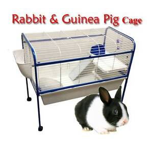 Warehouse pickup 100cm metal rabbit hutch cage with stand Riverwood Canterbury Area Preview