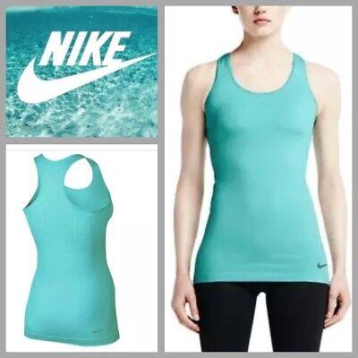 NEW $65 Nike Pro Hypercool Limitless Women's Compression Tank Top 642560 Aqua, M