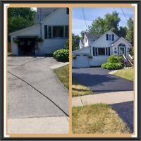 Asphalt Driveway Spraying and Repair