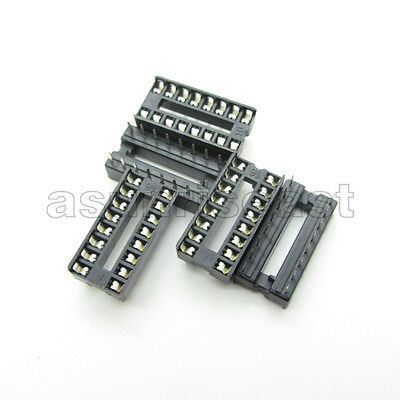10 X Dip 16 Pin Ic Sockets Adaptor Pcb Solder Type Socket 2.54mm 0.1 Pitch