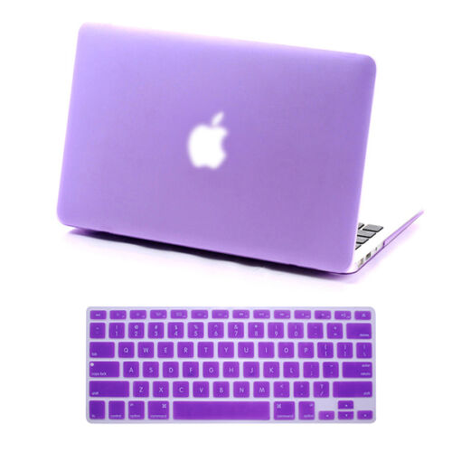 """Rubberized Hard Case for Macbook Pro 13/15 Retina Air 13/11"""" Inch+Keyboard Cover"""