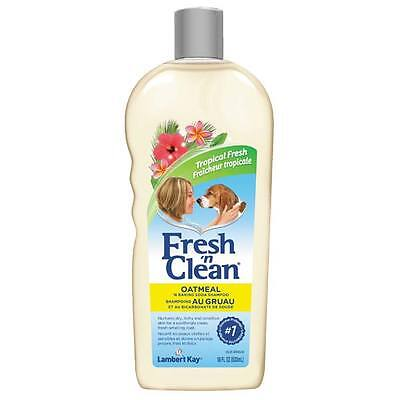 Dog Shampoo Fresh 'n Clean Oatmeal and Baking Soda 18 oz Tropical Fresh Scented  Fresh N Clean Dog Shampoo