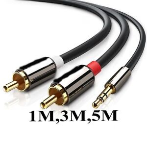 RCA cable, 3.5mm to 2RCA Audio Auxiliary Stereo Y Splitter Cable