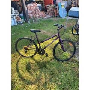Purple graecross ladies bike