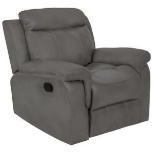 Relax-A-Longer Whitmore Contemporary Faux Leather Recliner Chair - Grey (open Box)