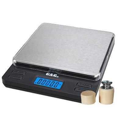 G&G LS200 +2X100g Gewicht  Feinwaage Präzisionswaage Digital-waage Taschenwaage