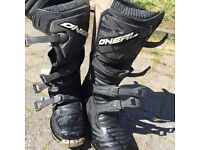 Oneal Moto Cross boots size 9
