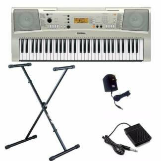 Yamaha E313 Keyboard + Stand + Book holder + Pedal + Headphones Lane Cove North Lane Cove Area Preview