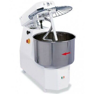 Spiral Dough Mixer 40 Liters - 38kgs 84lb - 2 Speed - Made In Italy
