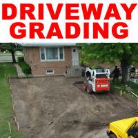 SKID STEER - GRADING - MOVING AGGREGATE & SOIL